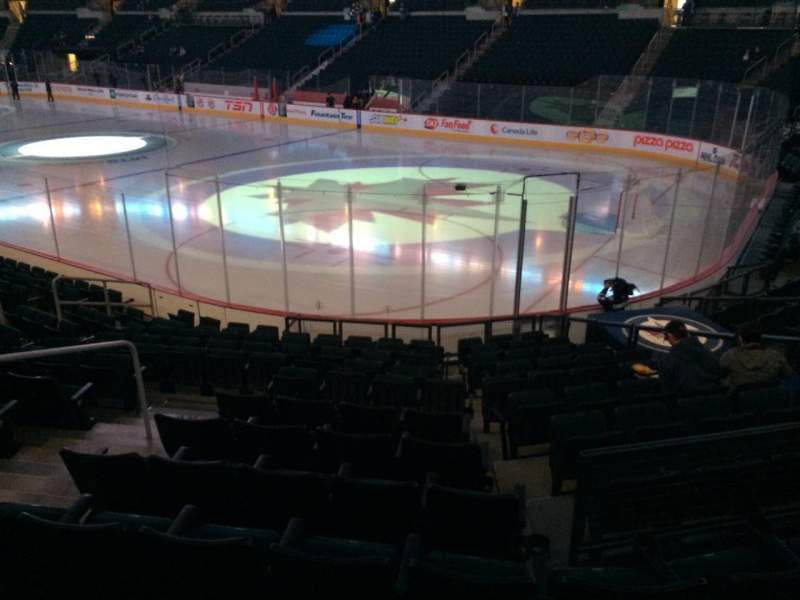 Seating view for Bell MTS Place Section 103 Row 13 Seat 12