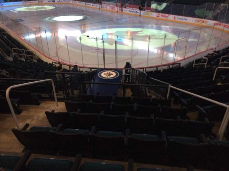 Seating view for MTS Centre Section 101 Row 15 Seat 5