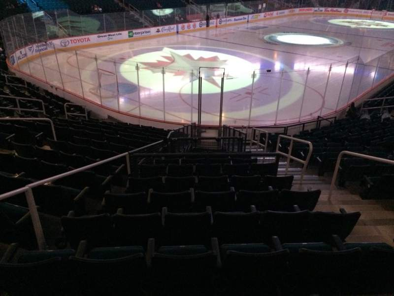 Seating view for Bell MTS Place Section 123 Row 15 Seat 4