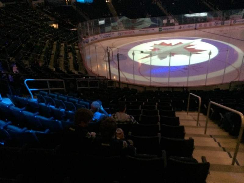 Seating view for MTS Centre Section 121 Row 15 Seat 15