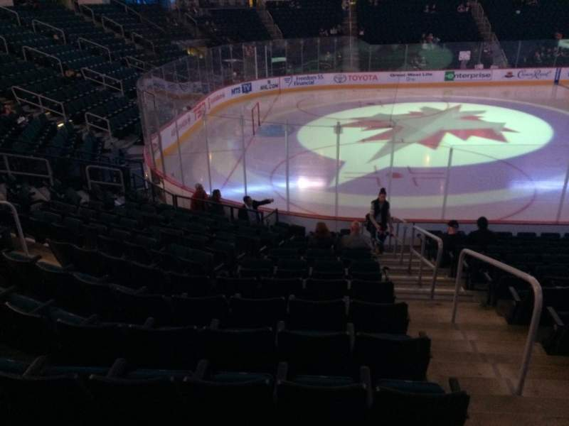 Seating view for MTS Centre Section 121 Row 13 Seat 1