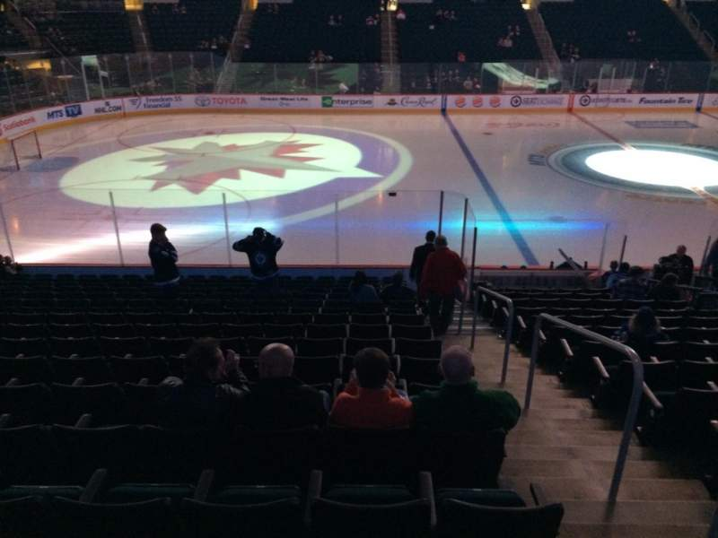 Seating view for Bell MTS Place Section 120 Row 15 Seat 1