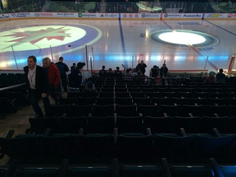 Seating view for MTS Centre Section 119 Row 15 Seat 18