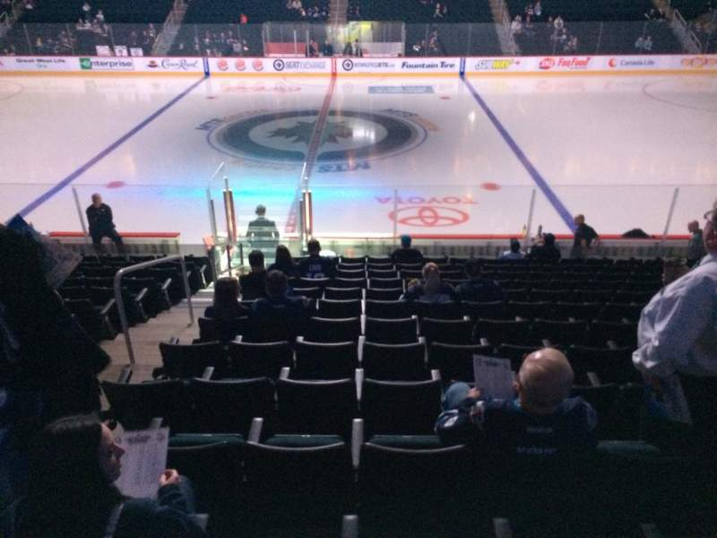 Seating view for Bell MTS Place Section 118 Row 15 Seat 18