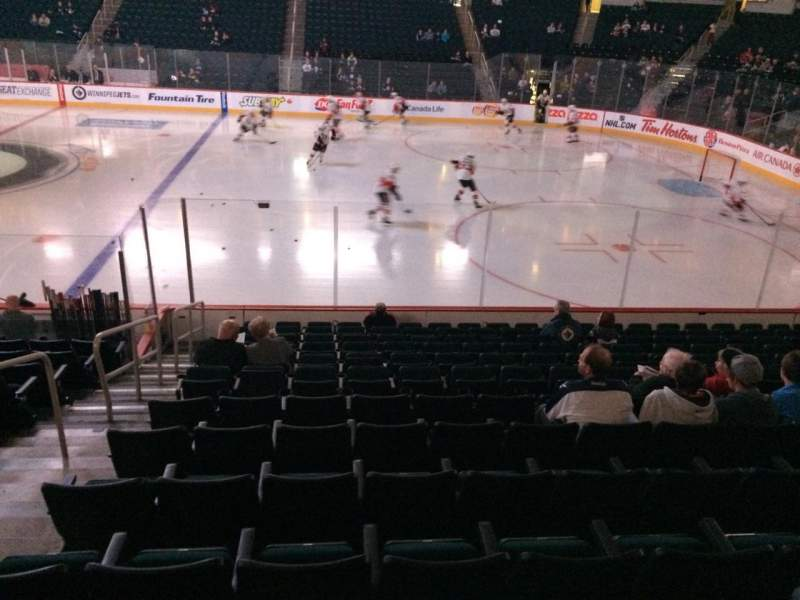 Seating view for MTS Centre Section 117 Row 13 Seat 19
