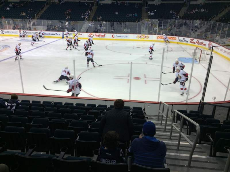 Seating view for MTS Centre Section 116 Row 10 Seat 1