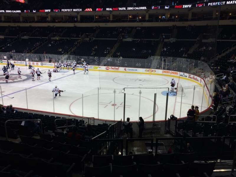 Seating view for Bell MTS Place Section 116 Row 16 Seat 6