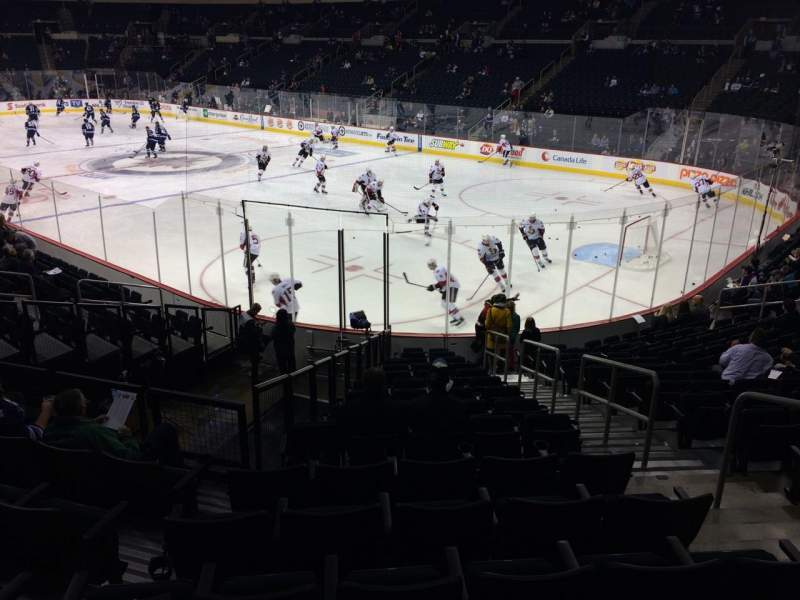 Seating view for Bell MTS Place Section 115 Row 15 Seat 4