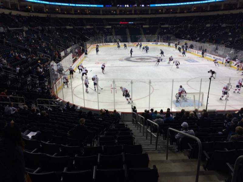 Seating view for Bell MTS Place Section 113 Row 15 Seat 1