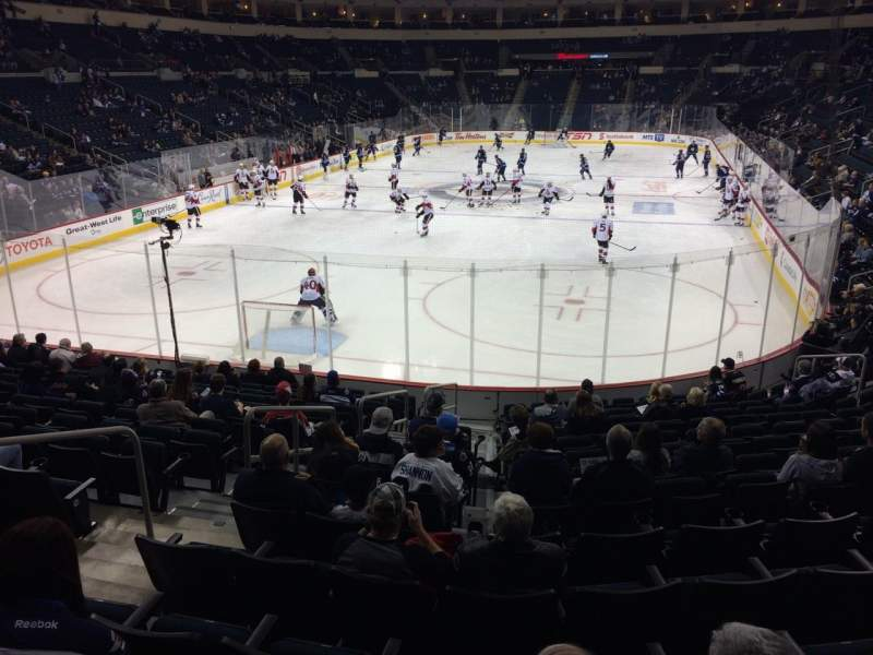 Seating view for MTS Centre Section 111 Row 14 Seat 22