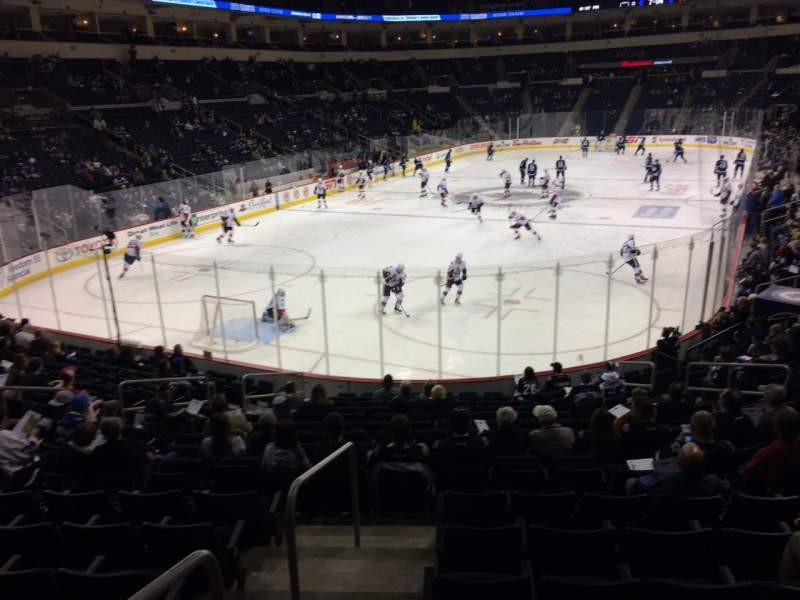 Seating view for MTS Centre Section 111 Row 16 Seat 13