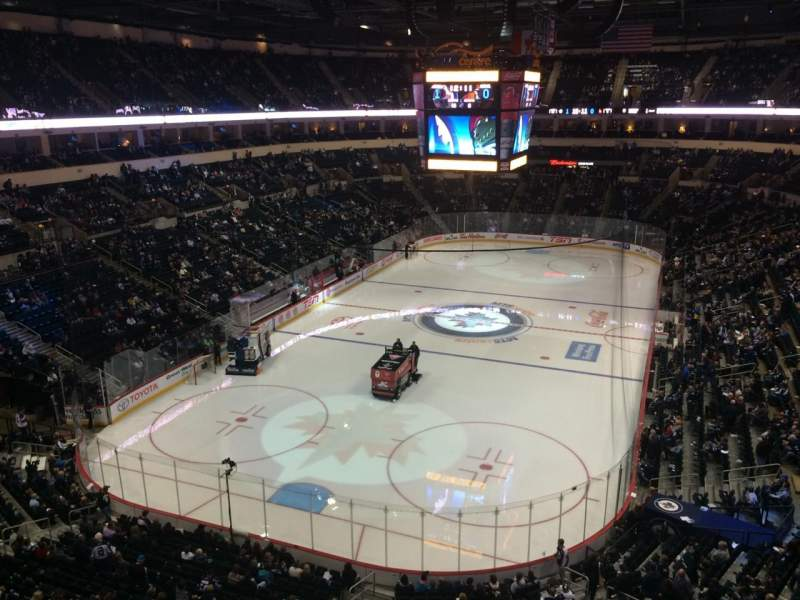 Seating view for Bell MTS Place Section 311 Row 1 Seat 1