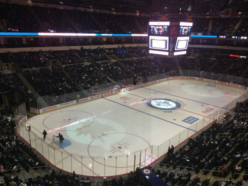 Seating view for Bell MTS Place Section 310 Row 1 Seat 6