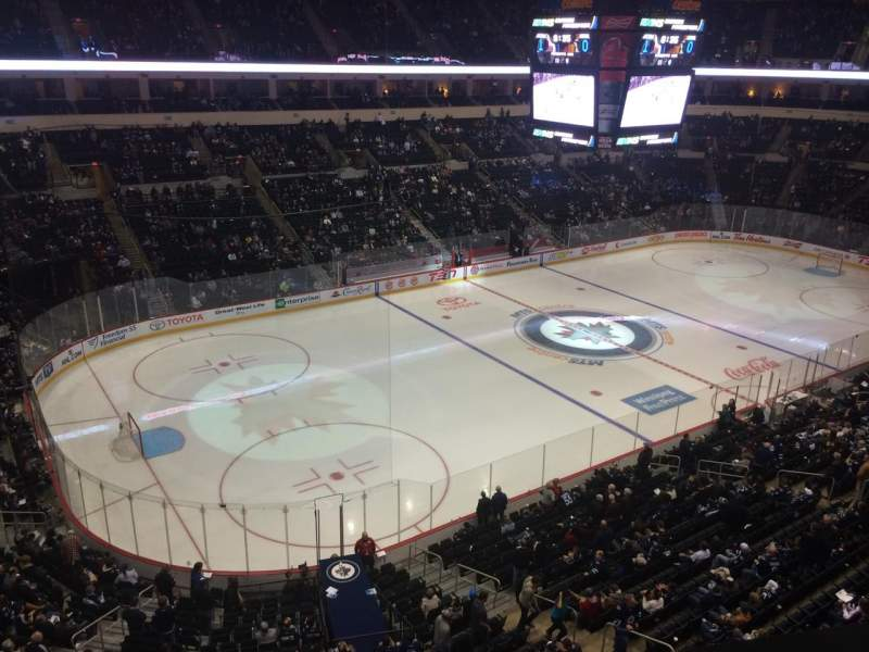 Seating view for MTS Centre Section 309 Row 1 Seat 5