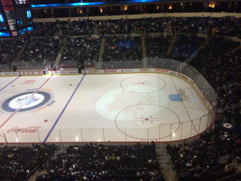 Seating view for MTS Centre Section 304 Row 1 Seat 6