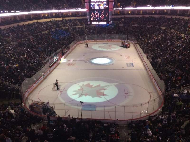 Seating view for MTS Centre Section 313 Row 1 Seat 1