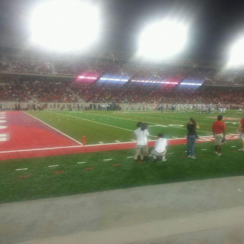 Seating view for TDECU Stadium Section 115 Row 1 Seat 12