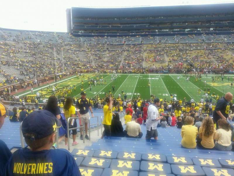Seating view for Michigan Stadium Section 27 Row 47 Seat 16