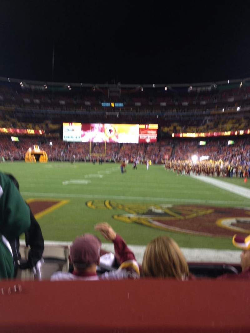 Seating view for FedEx field Section 130 Row 1