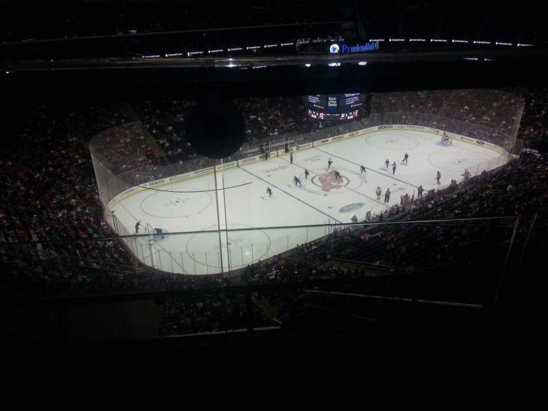 Seating view for Prudential Center Section 208 Row 1 Seat 3