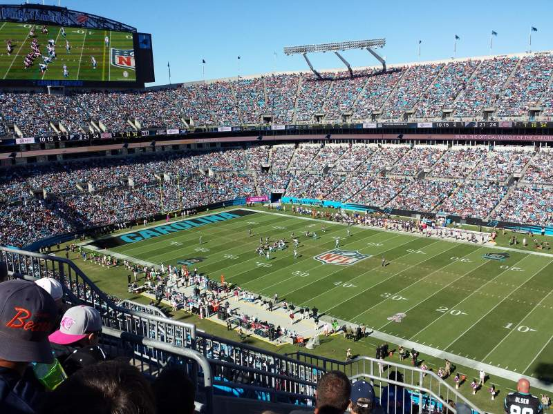 Seating view for Bank of America Stadium Section 537 Row 7 Seat 12