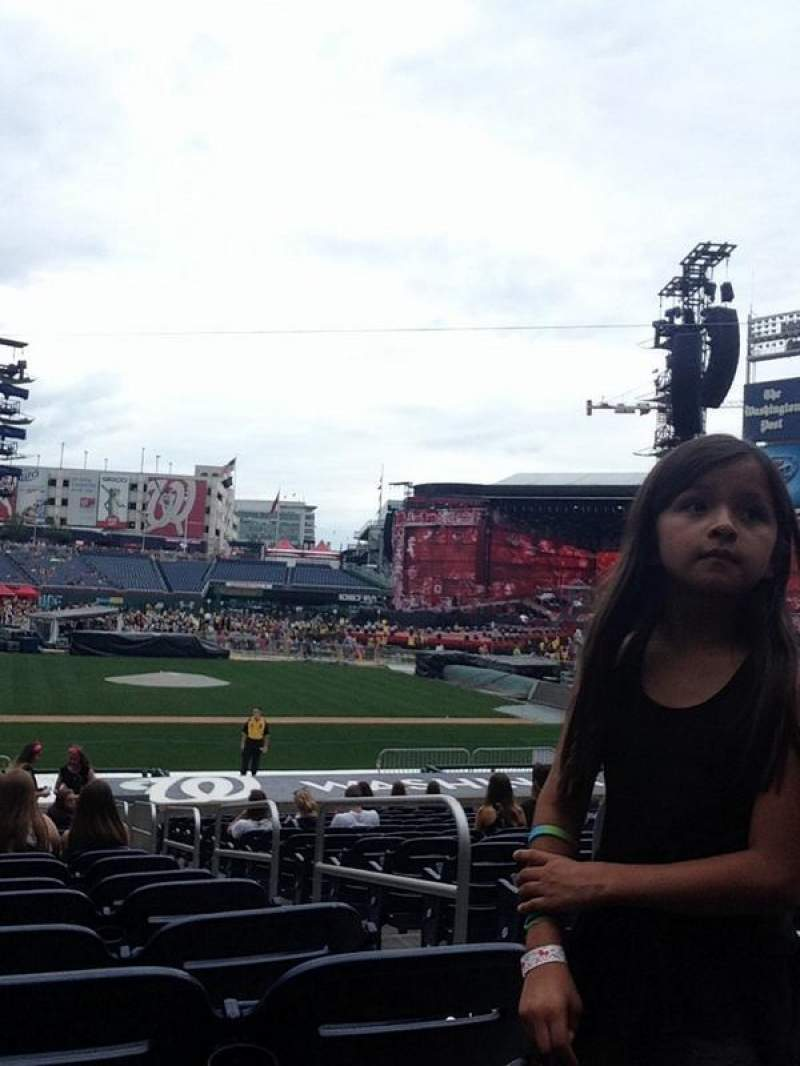 Seating view for Nationals Park Section 127 Row Z Seat 2