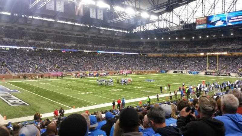 Seating view for Ford Field Section 101 Row 21 Seat 11