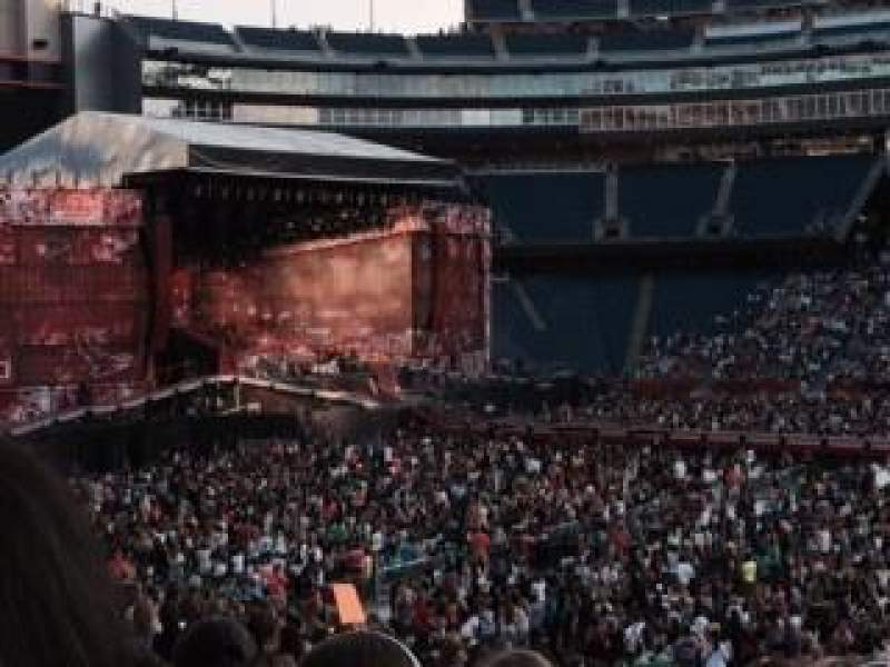 Seating view for Gillette Stadium Section 109 Row 29 Seat 6