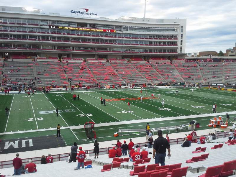 Seating view for Maryland Stadium Section 3 Row JJ Seat 18-19