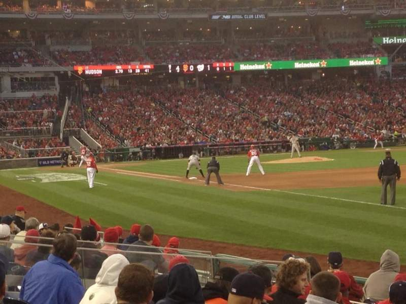 Seating view for Nationals Park Section 135 Row M Seat 10
