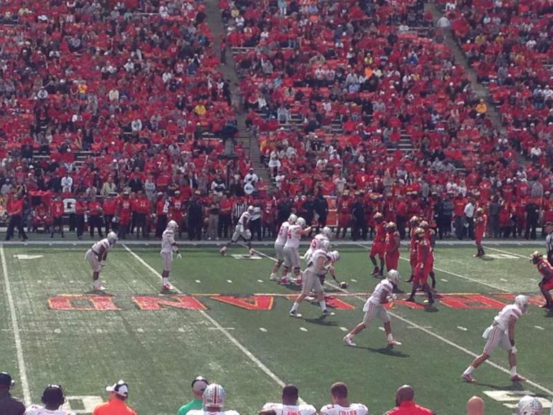 Seating view for Maryland Stadium Section 5 Row Q Seat 4