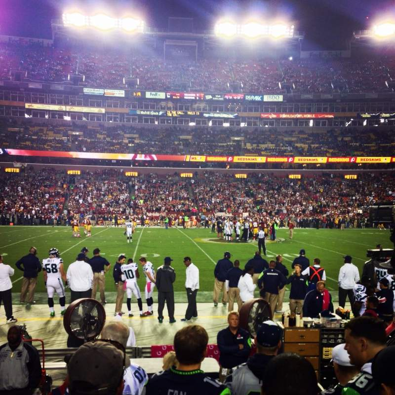 Seating view for FedEx Field Section 122 Row 3 Seat 15