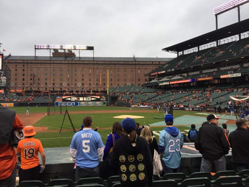 Seating view for Oriole Park at Camden Yards Section 52 Row 6 Seat 9