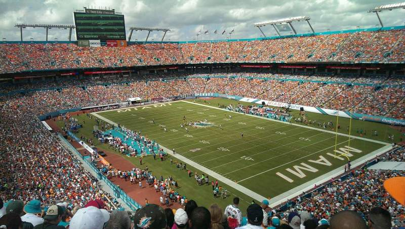 Seating view for Hard Rock Stadium Section 434 Row 13 Seat 8