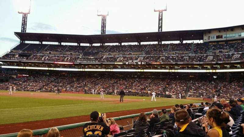 Seating view for PNC Park Section 29 Row E Seat 5