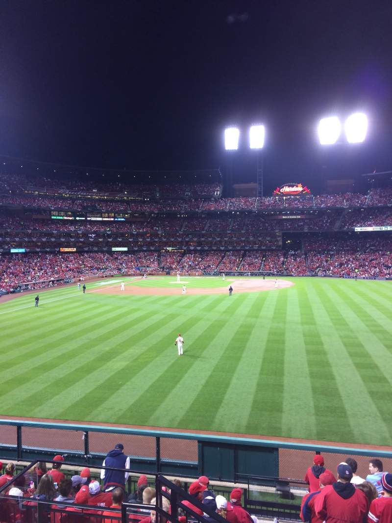 Seating view for Busch Stadium Section 507 Row 23 Seat 3