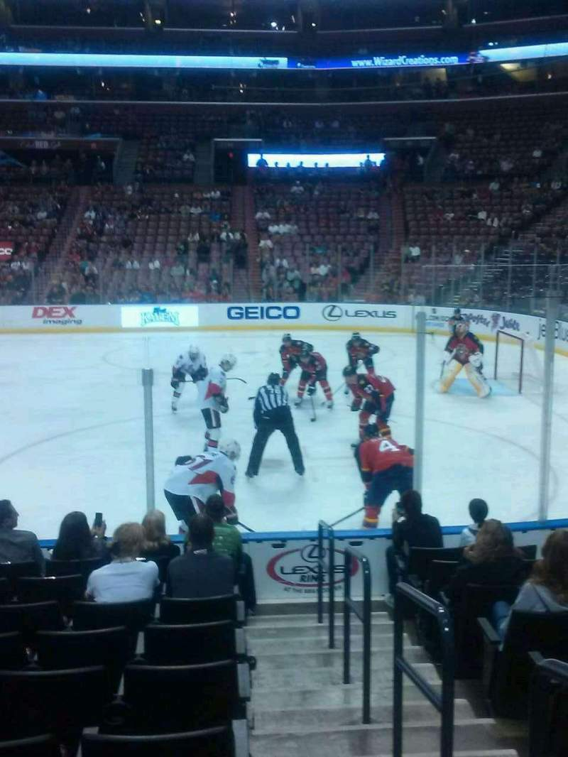 Seating view for BB&T Center Section 116 Row 10 Seat 1