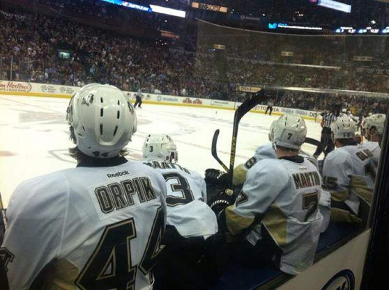 Seating view for Nationwide Arena Section 104 Row C