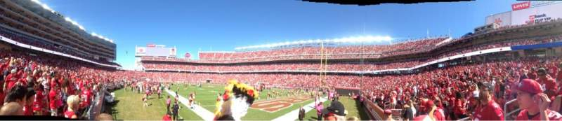 Seating view for Levi's Stadium Section 131 Row 2 Seat 7