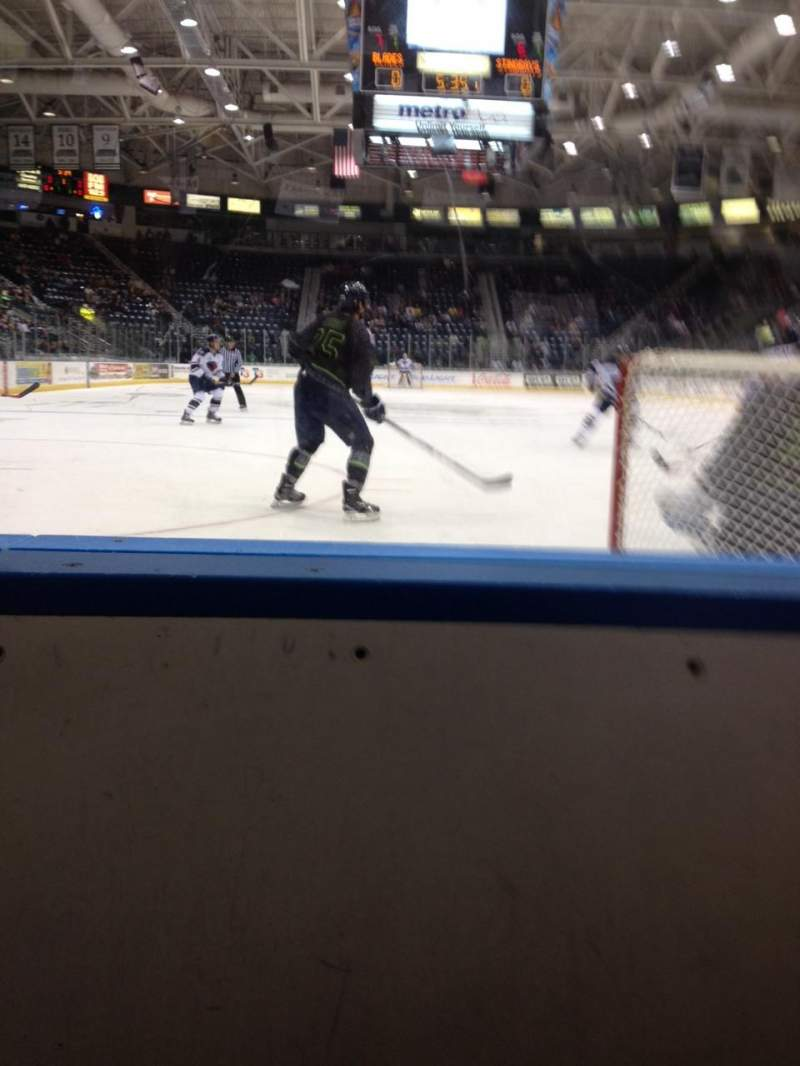 Seating view for Germain Arena Section 106 Row 1 Seat 11