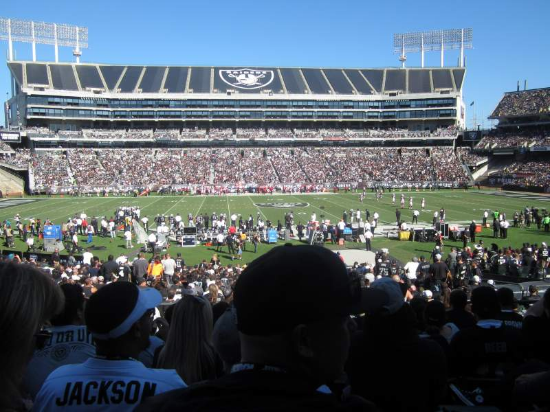 Seating view for Oakland Alameda Coliseum Section 118 Row 28 Seat 12