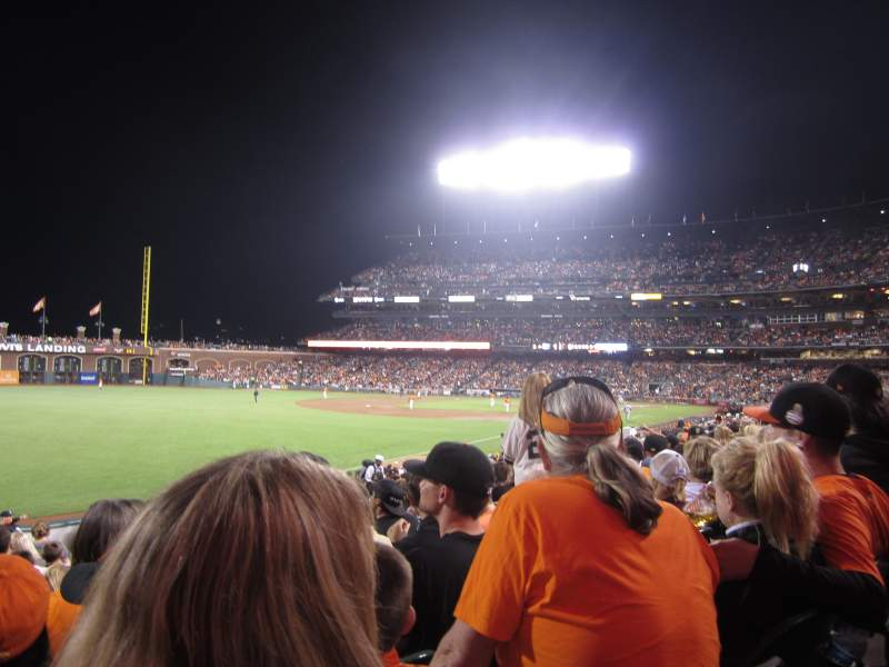 Seating view for AT&T Park Section 132 Row 24 Seat 9