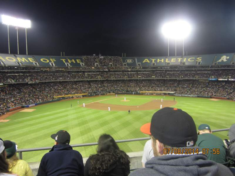 Seating view for Oakland Alameda Coliseum Section 245 Row 4 Seat 10