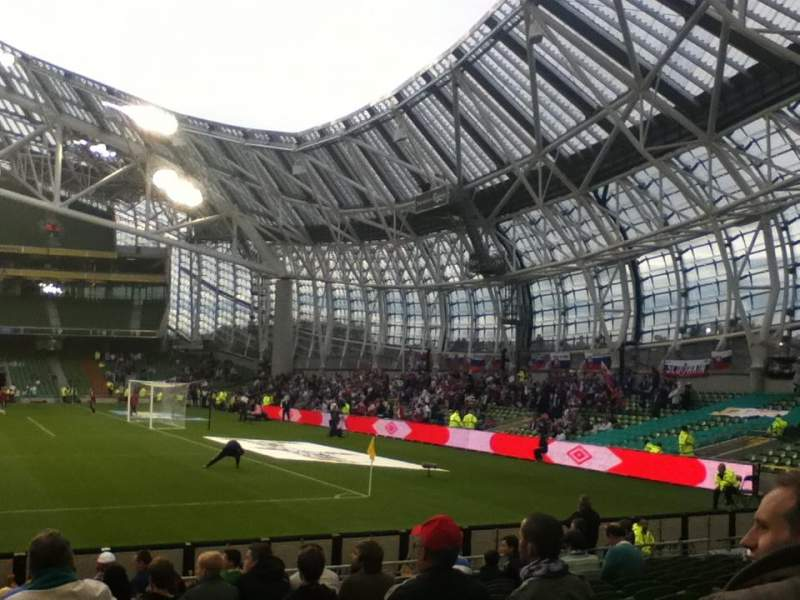 Seating view for Aviva Stadium Section 102 Row R