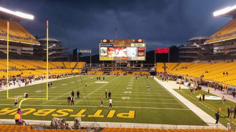 Seating view for Heinz Field Section 124 Row X Seat 19