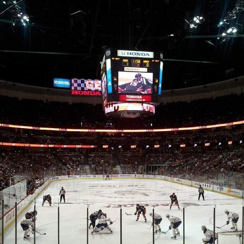 Seating view for Honda Center Section 202 Row N Seat 6