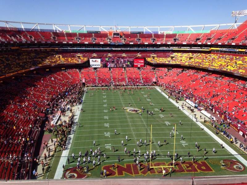 Seating view for Fedex Field Section 442 Row 4 Seat 15