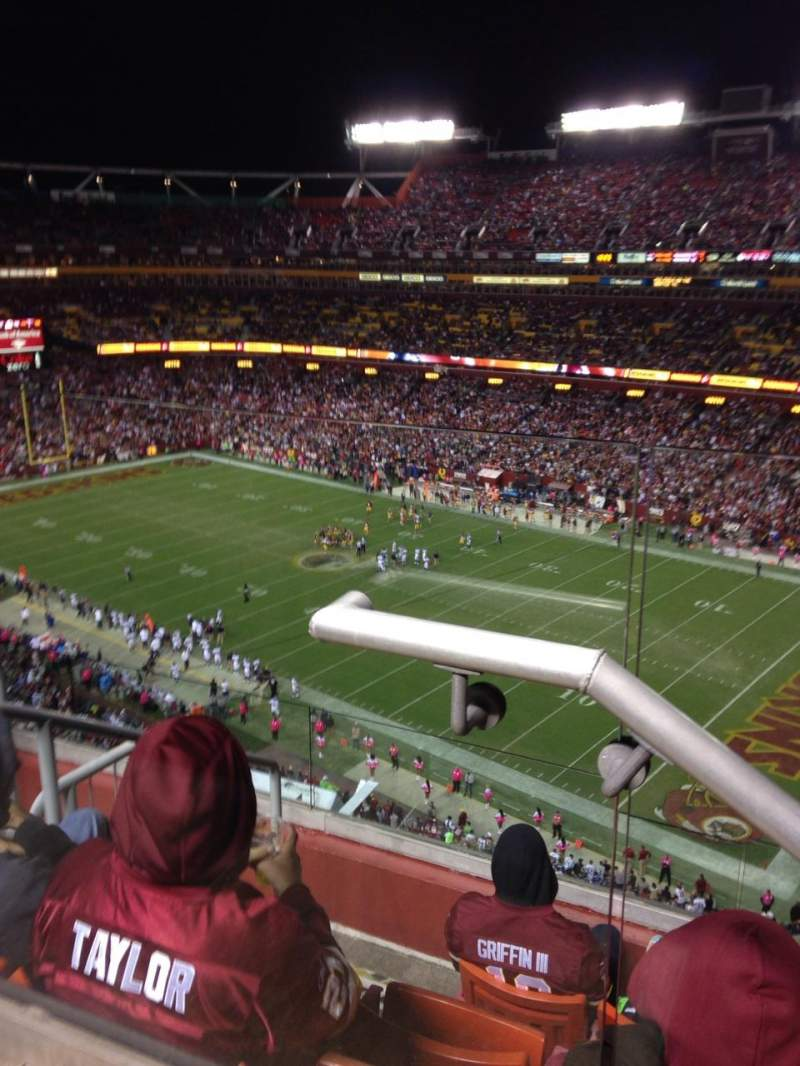 Seating view for Fedex Field Section 422 Row 6