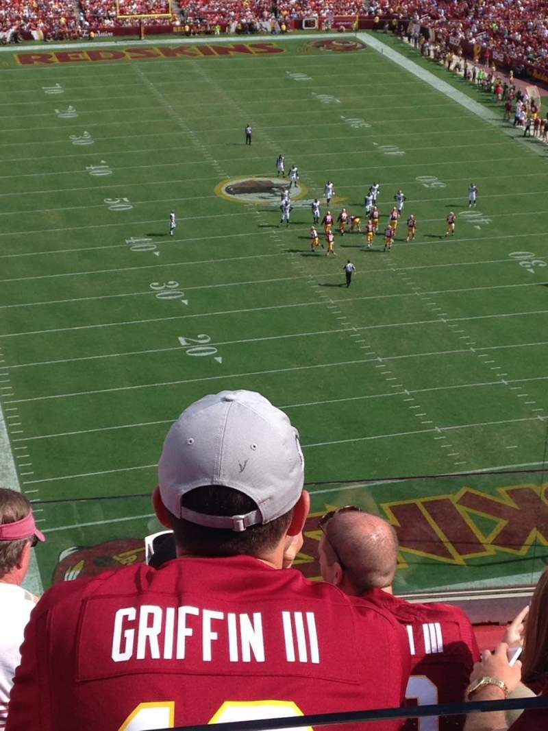 Seating view for Fedex Field Section 416 Row 5 Seat 17