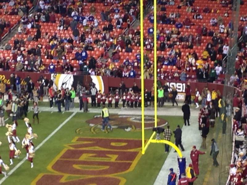Seating view for Fedex Field Section 317 Row 6 Seat 1
